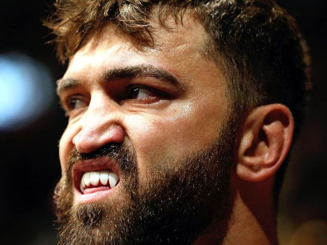 close up shot of UFC heavy weight Andre Arlovski